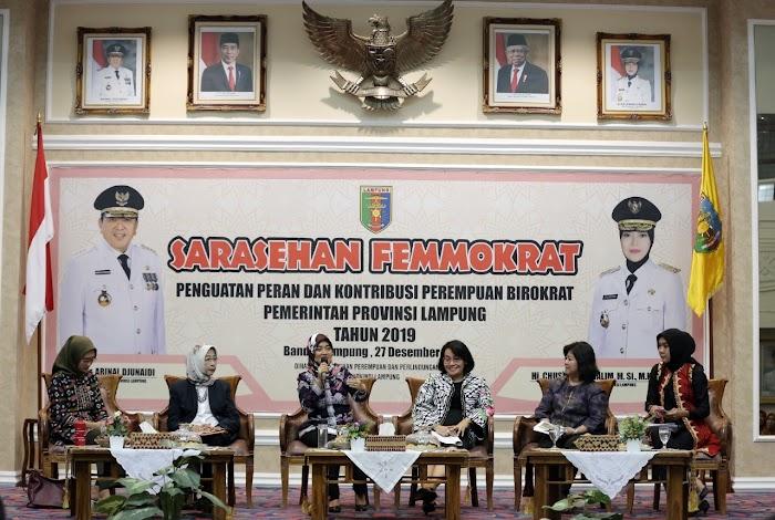 Sarasehan Femokrat 2019, Wagub Nunik Dorong Kontribusi Perempuan dalam Birokrasi