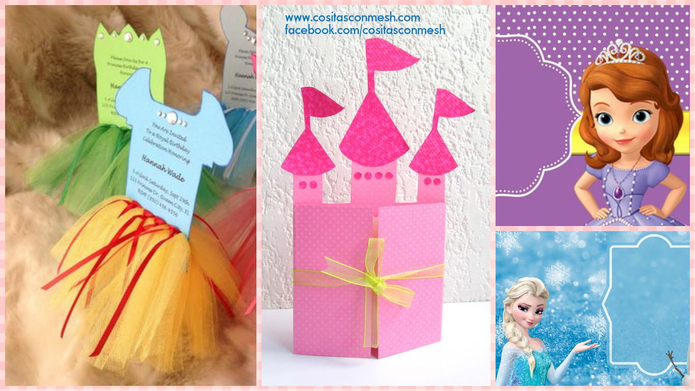 cómo hacer tarjeta de cumpleaños inspirado en princesas cositasconmesh