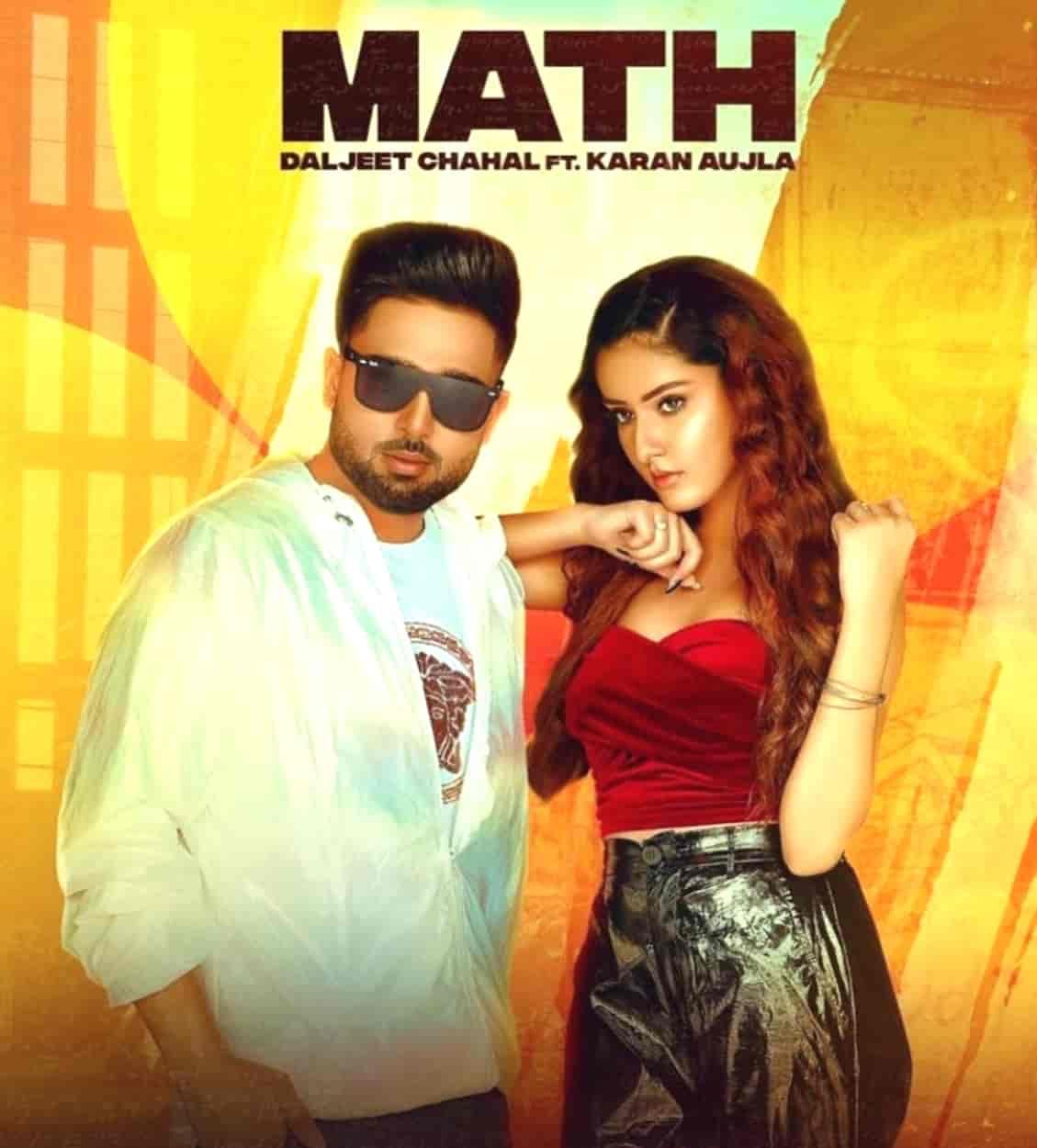 Math Punjabi Song Image Features Karan Aujla and Daljit Chahal