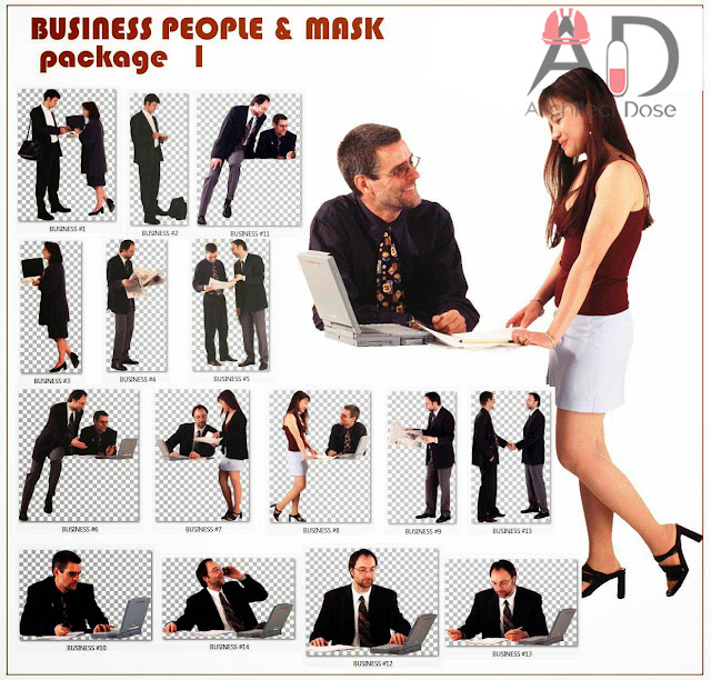 Photoshop Free CutOut - PNG Business People - 3 Packages