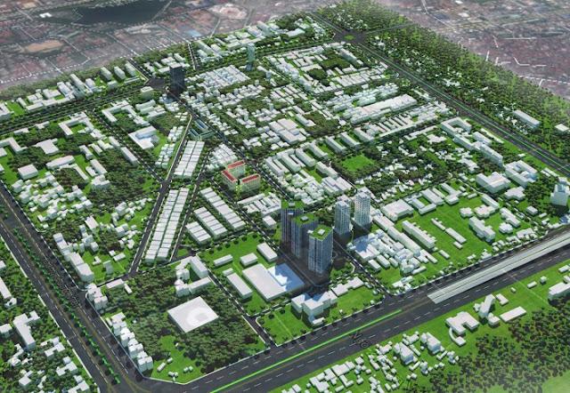 Phối cảnh tổng thể dự án chung cư bộ ngoại giao 120 Trần Quốc Hoàn