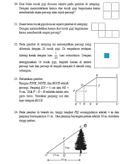 Pembahasan Uji Kompetensi 4 Halaman 267 Matematika Kelas 9 Kesebangunan dan Kongkruen