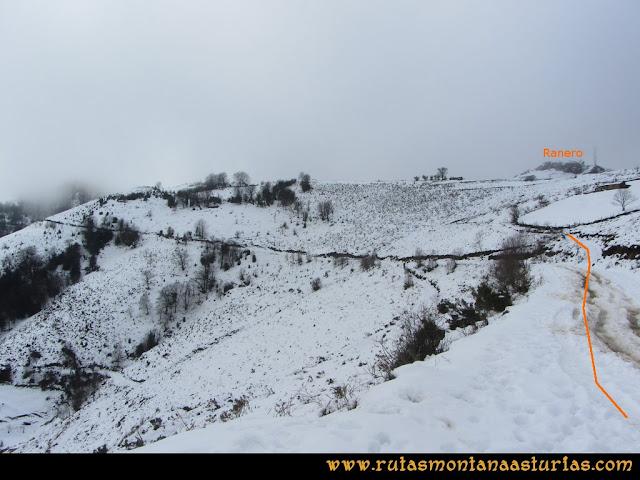 Pico Ranero: Zona del mirador con vista al pico Ranero