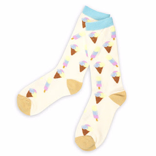גרביים עם הדפס גלידות - מתות לקיץ