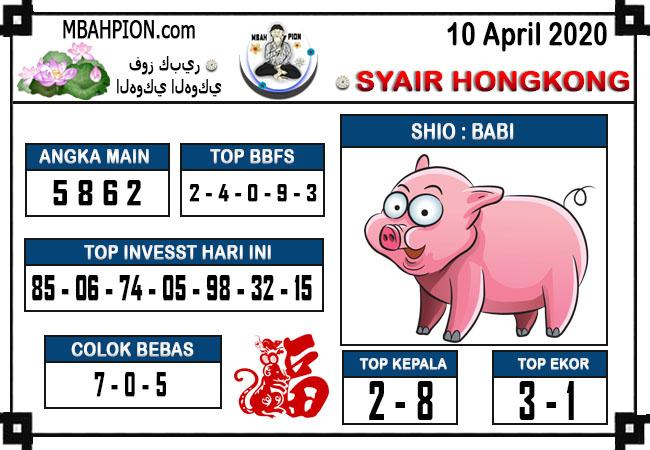 Prediksi HK Malam Ini Jumat 10 April 2020 - Syair Mbah Pion