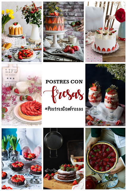 Postres con fresas