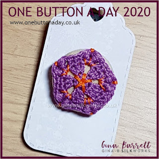 Day 200 : Flor - One Button a Day 2020 by Gina Barrett