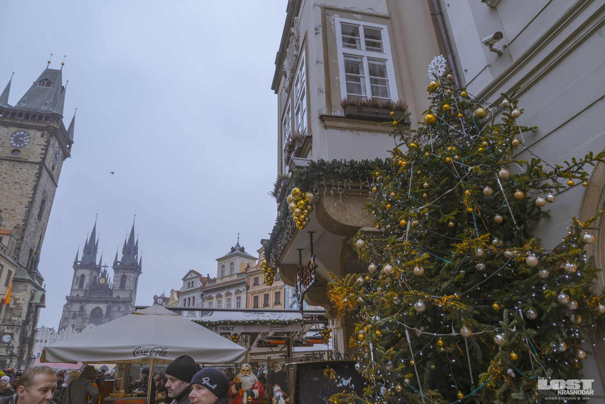 Old Town Square in Prague New Year's Eve