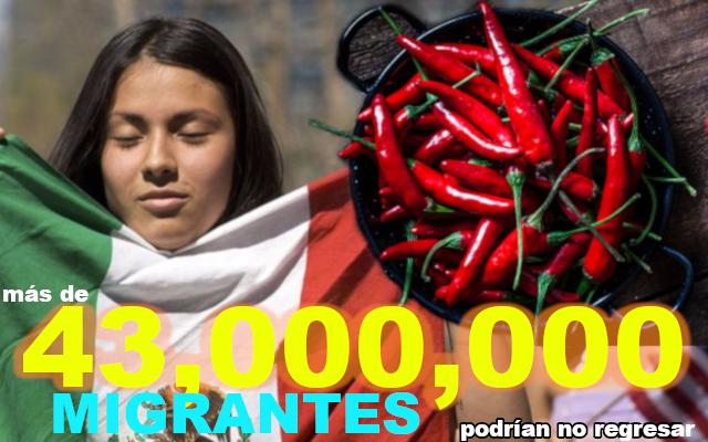 Mexicanos migrantes.