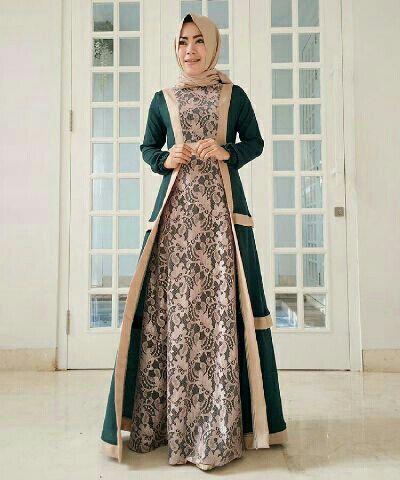 Inspirasi Model Gamis Batik Kombinasi Cantik Untuk Pesta Model