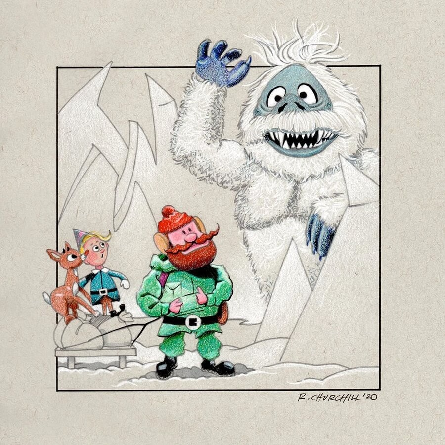 07-Famous-creature-the-Yeti-Ron-Churchill-www-designstack-co