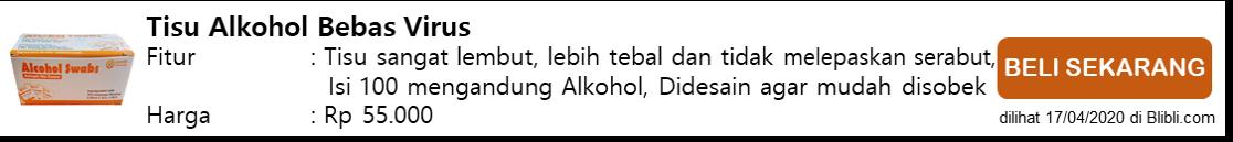 Tisu Alkohol Bebas Virus
