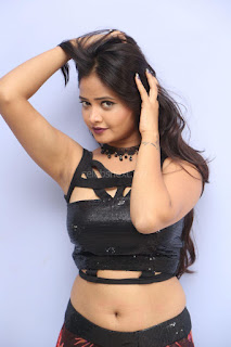 Shriya Vyas in a Tight Backless Sleeveless Crop top and Skirt 136.JPG