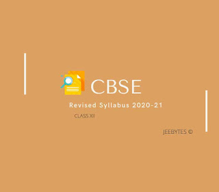 CBSE REVISED 2020-21