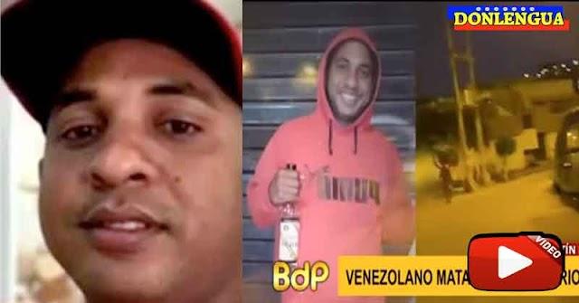 Venezolano apuñaló a otro venezolano en Perú y quedó grabado