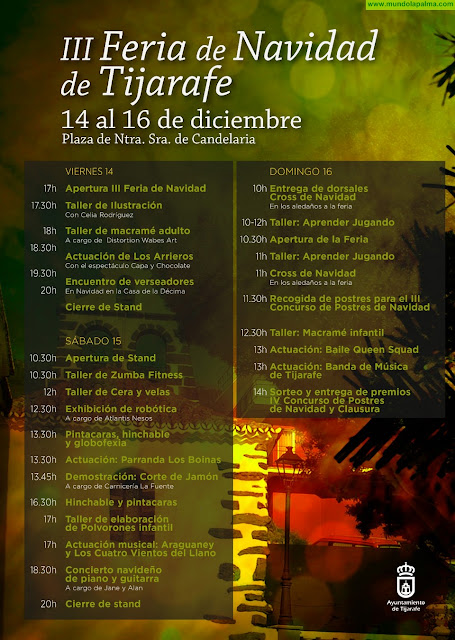 Tijarafe acoge este fin de semana la III Feria de Navidad