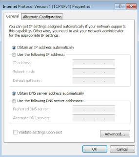 Konfigurasi DHCP windows