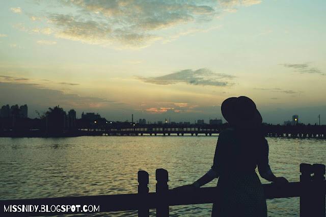 sunset cantik di ancol jakarta