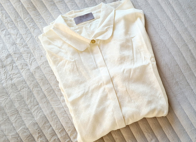 Mulberry cream silk blouse