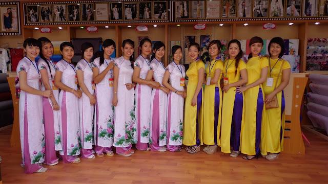 May áo dài đồng phục giá rẻ ở Hà Nội