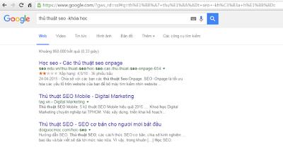 tìm kiếm chính xác với google