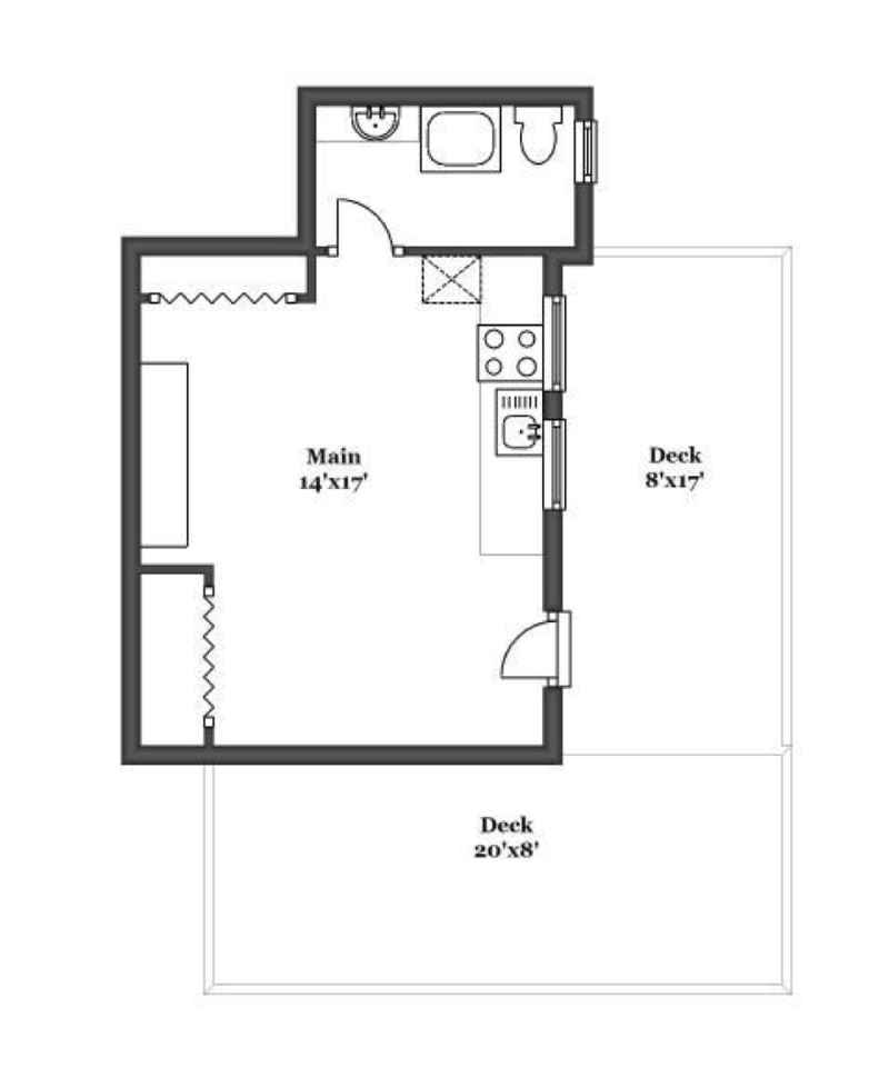 These small house plans focus more on style and function than size. These small house designs with floor plans have 1 bedroom, 1 bathroom, a kitchen and a living room build on 28 square meters above. Check out our small house floor plans and designs to find what is right for your needs.