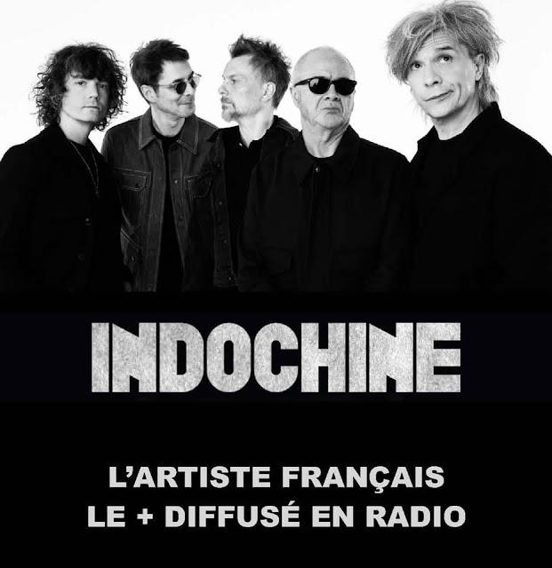 Indochine es el artista francés más difundido en la radio