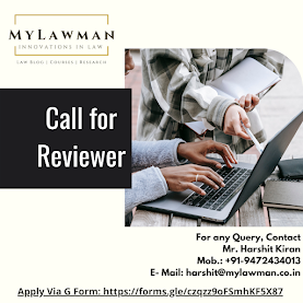 Call for Reviewer at MyLawman