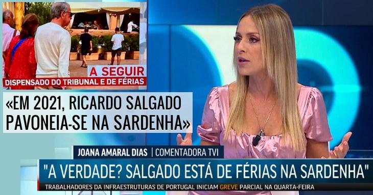 «Salgado a rir-se disto tudo na ilha» Joana Amaral