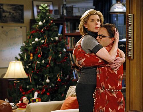 Christine Baranski Big Bang Theory Porn - Christine Baranski as Beverly Hofstadter and Johnny Galecki as Leonard in  The Big Bang Theory. Photo courtesy of hollywood.com