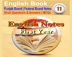 First Year (Intermediate Part-1) Complete English Notes PDF Download