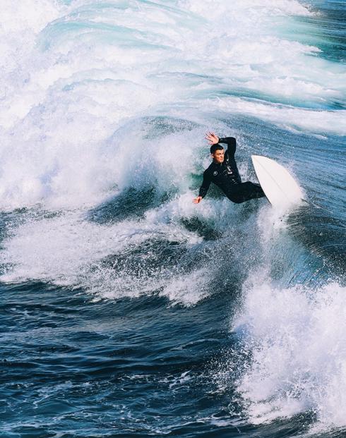 Santa Cruz Surfers Surfing