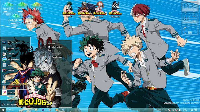 Boku no Hero Academia V2 Theme Win 8/8.1 by Enji Riz Lazuardi