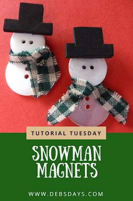 Handmade Snowman Magnets Made from Buttons Craft Project