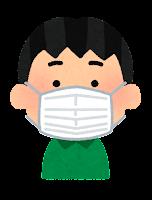 マスクを付けた人のイラスト(男の子)