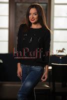 Pulover negru din tricot cu decoratiuni