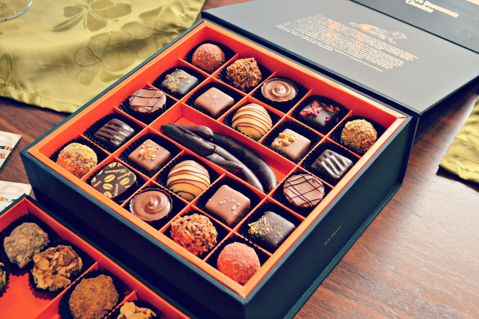 Charlotte Brunswick Chocolate box at Harington House, Bath, UK