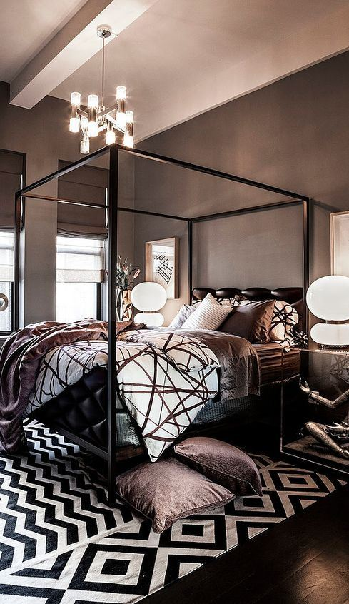 Luxury Master Bedrooms By Famous Interior Designers Dark Inspiration: 30+ Perfect Solution For The Bedroom