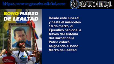 """Nuevo bono """"Marzo de Lealtad"""" a través del Carnet de la Patria"""