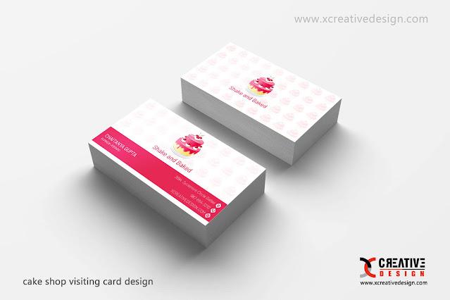 Cake Shop Visiting Card Design