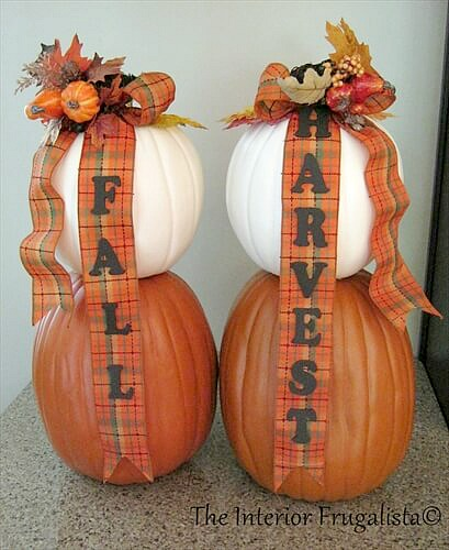 Traditional DIY Faux Stacked Pumpkins