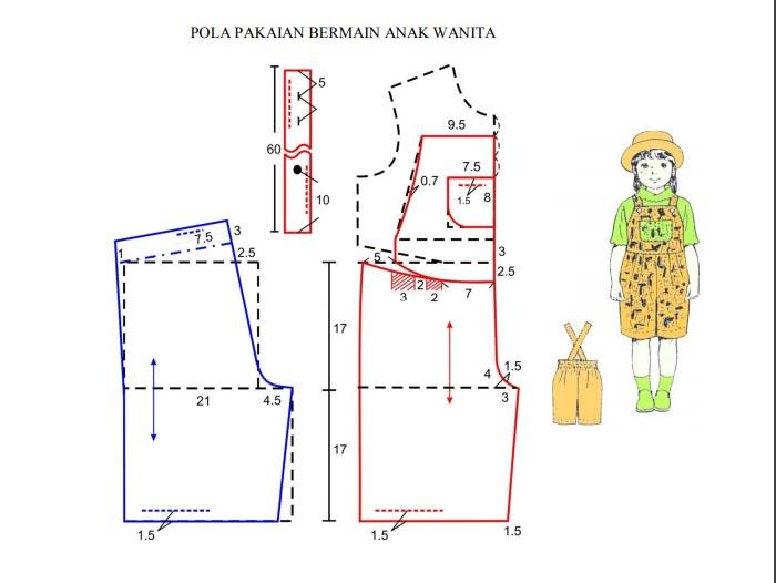 Pola Busana Bermain Anak Wanita Model 2