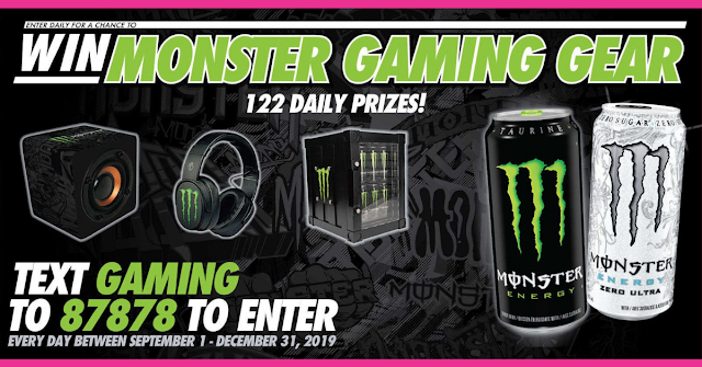 Text to win with Monster Energy Contest