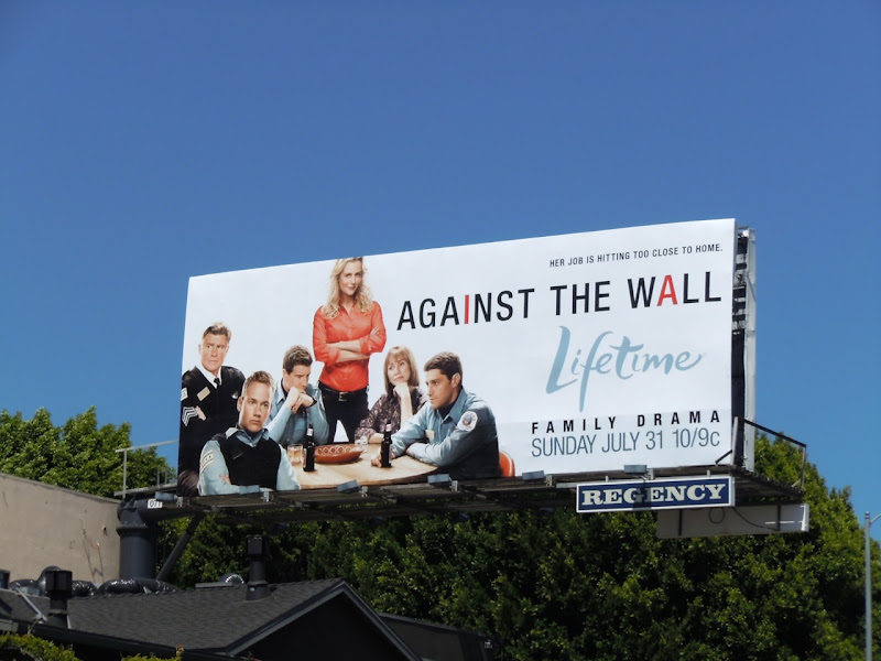 Against the Wall TV billboard