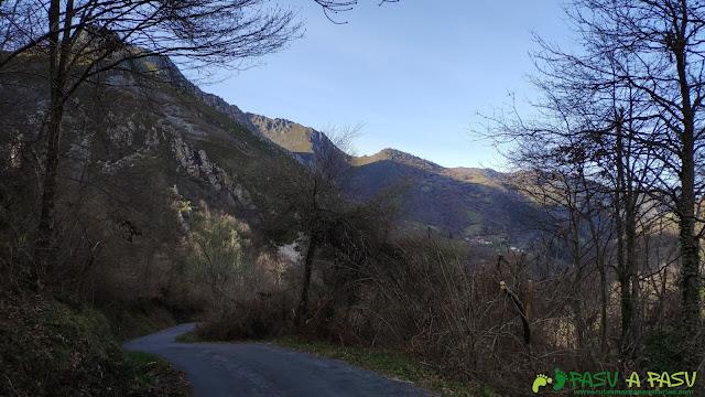 Carretera que une Rebollada con Robledo, Somiedo