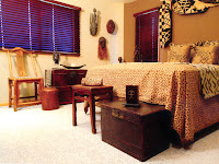 African Color Living Room Decor