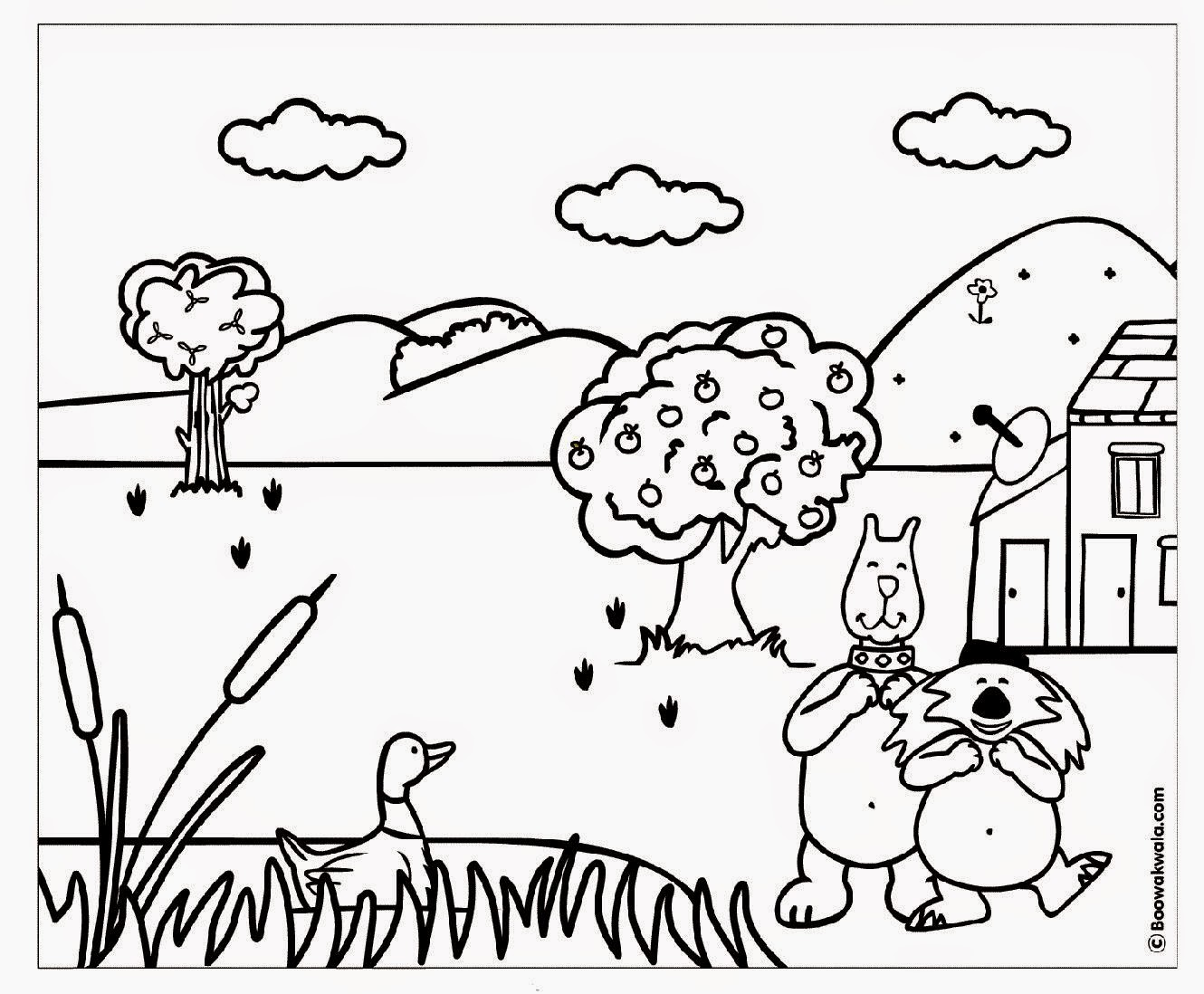 A Printable Coloring Book  page  picture  sheet