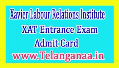 XAT Entrance Exam Admit Card