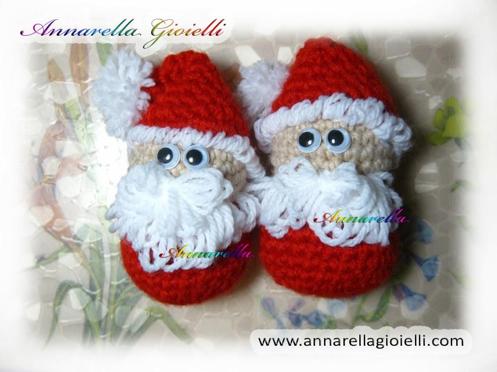 Super Annarella Gioielli: Babbo Natale all'uncinetto   Amigurumi RD85