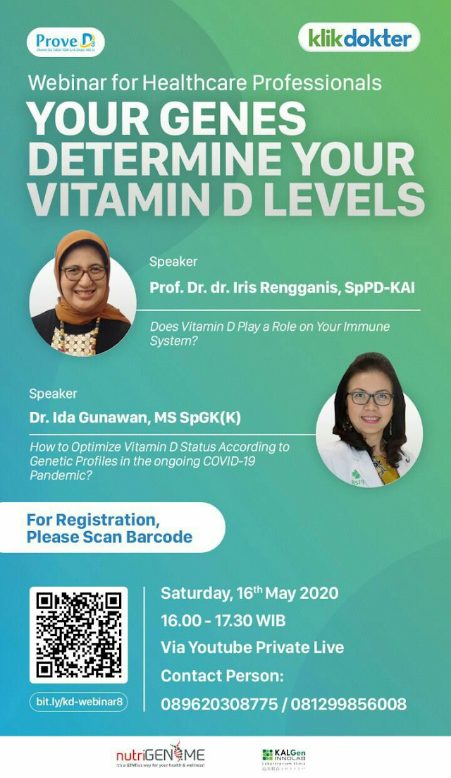 "Webinar ""Your Genes Determine Your Vitamin D Levels"""